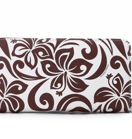 Wallet Kaylee Hibiscus Brown