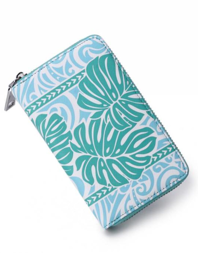 Wallet Chloe Monstera Blue