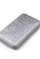 Wallet Chloe Hibiscus Embossed Silver