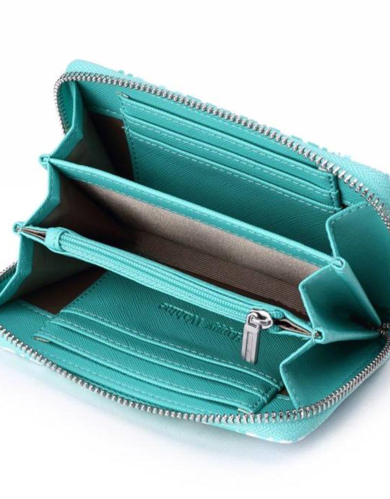 Wallet Chloe Monstera Blue
