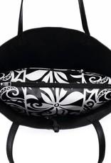 Reversible Tote Nancy Tapa Tiare Black Large