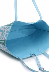 Reversible Tote Nancy Monstera Blue Large