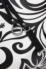 Reversible Tote Nancy Hibiscus Black Large