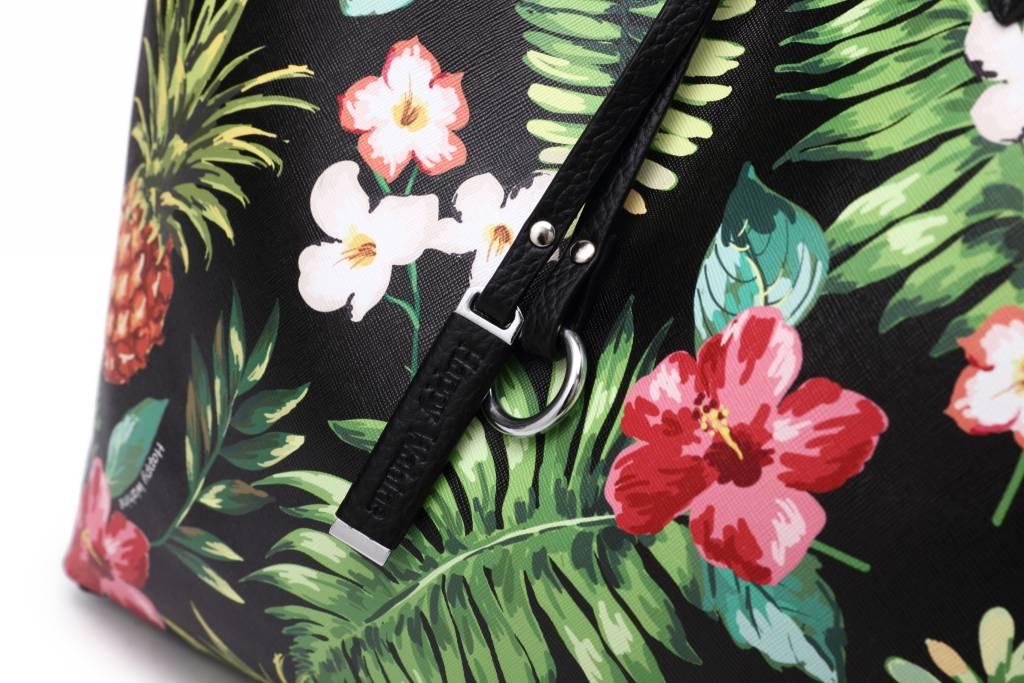 Reversible Tote Nancy Vintage Pineapple Black Large