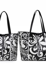 Reversible Tote Nancy Tapa Tiare Black Small