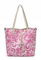 Reversible Tote Nancy Hibiscus Pink Small