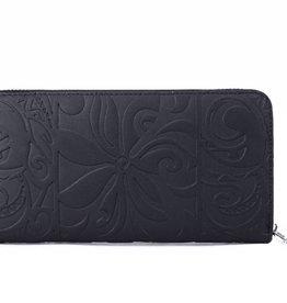 Wallet Kaylee Tapa Tiare Emb Black