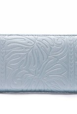 Wallet Kaylee Monstera Embossed Blue