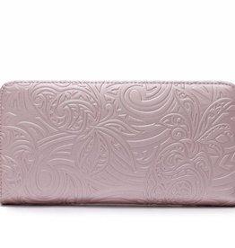 Happy Wahine Wallet Kaylee Tapa Pineapple Embossed Pink
