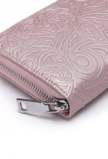 Wallet Kaylee Tapa Pineapple Embossed Pink