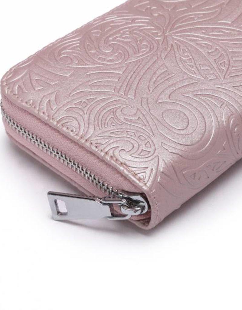 Wallet Kaylee Tapa Pineapple Embossed Pink