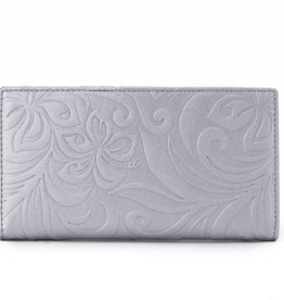 Wallet Teyla Hibiscus Emb Silver