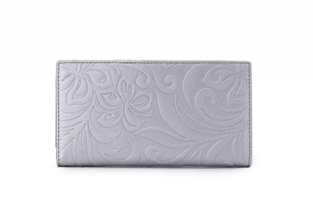 Wallet Teyla Hibiscus Embossed Silver