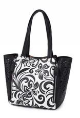 Handbag Amy Hibiscus Black Small