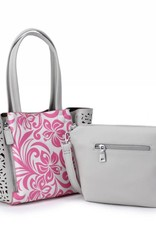 Handbag Amy Hibiscus Pink Small