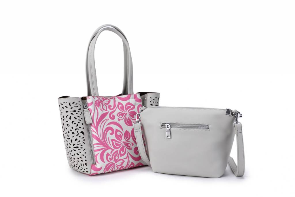 Handbag Amy Hibiscus Pink Small