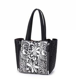 Happy Wahine Handbag Amy Tapa Tiare Black Small