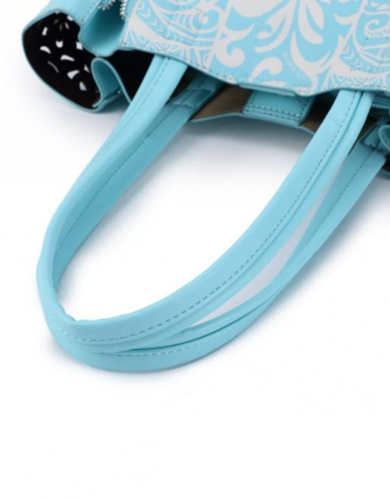 Handbag Amy Tapa Tiare Blue Small