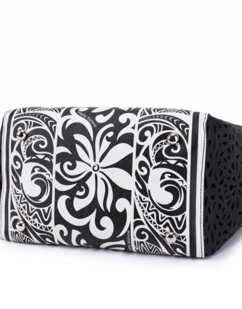 Handbag Amy Tapa Tiare Black Small