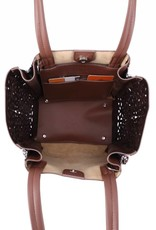 Handbag Amy Tapa Tiare Brown Large