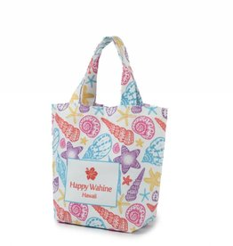 Happy Wahine Everyday HI Small Tote Summer Shells