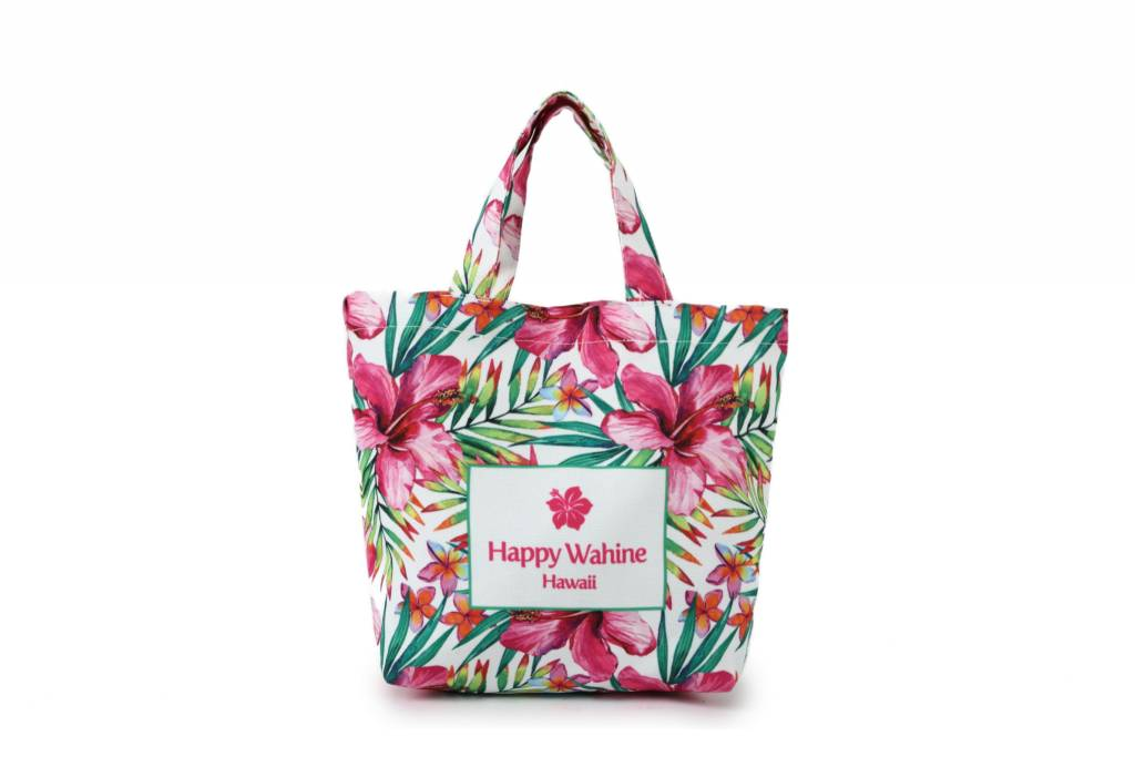Everyday HI Small Tote Watercolor Hibiscus