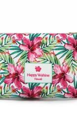 Happy Wahine Everyday HI Flat Pouch Watercolor Hibiscus