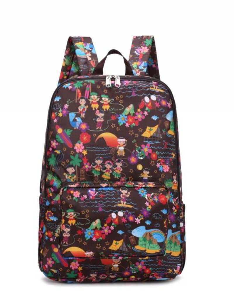 Nylon Song Backpack Luau Brown