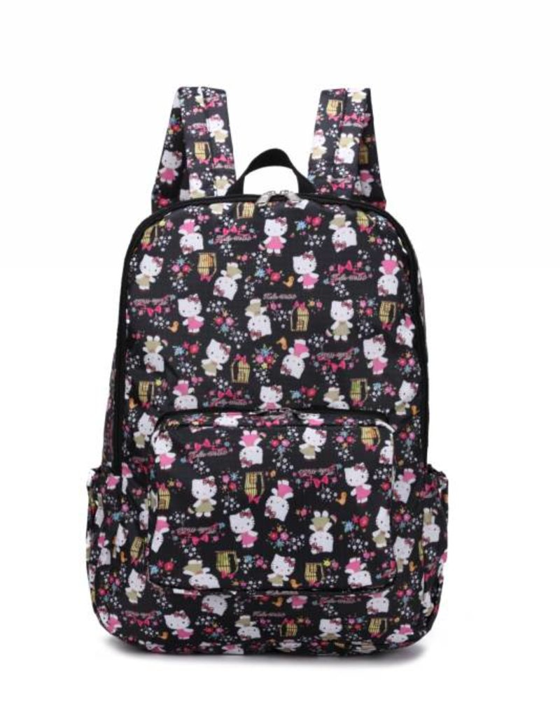 Nylon Song Backpack Kitty Black