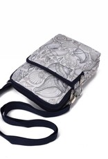 Happy Wahine Nylon Keira Crossbody Seashell Grey