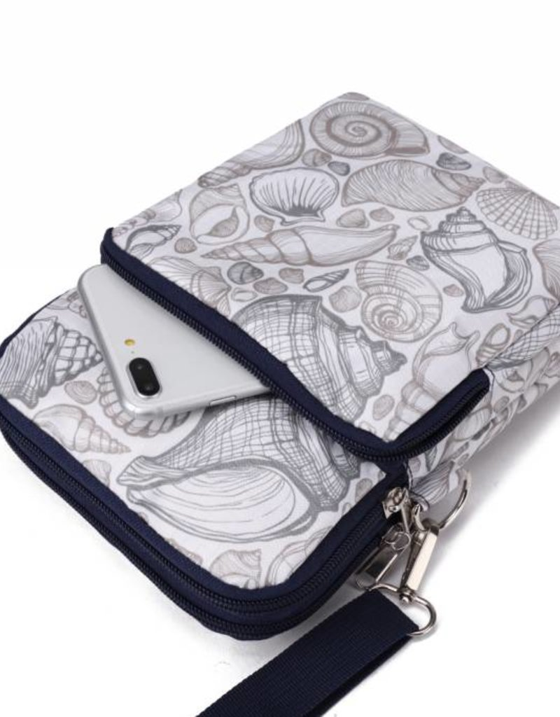Nylon Keira Crossbody Seashell Grey