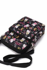 Nylon Keira Crossbody Kitty Black