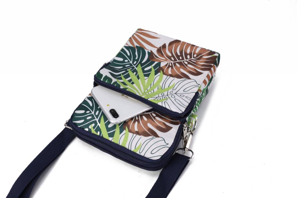 Nylon Keira Crossbody Monstera White