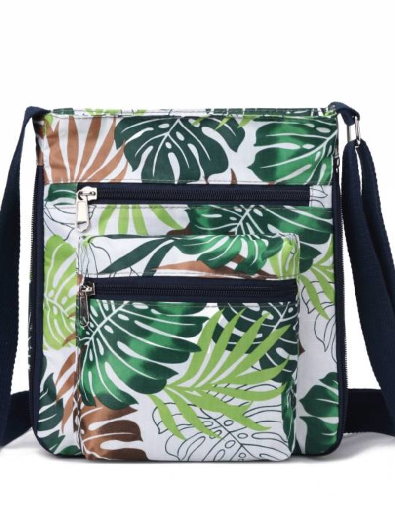 Nylon Deanna Crossbody Monstera White