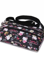 Nylon Jonelle Crossbody Kitty Black