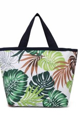 Nylon Rylee Tote Monstera White