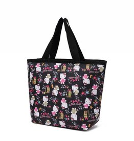 Nylon Rylee Tote Kitty Black