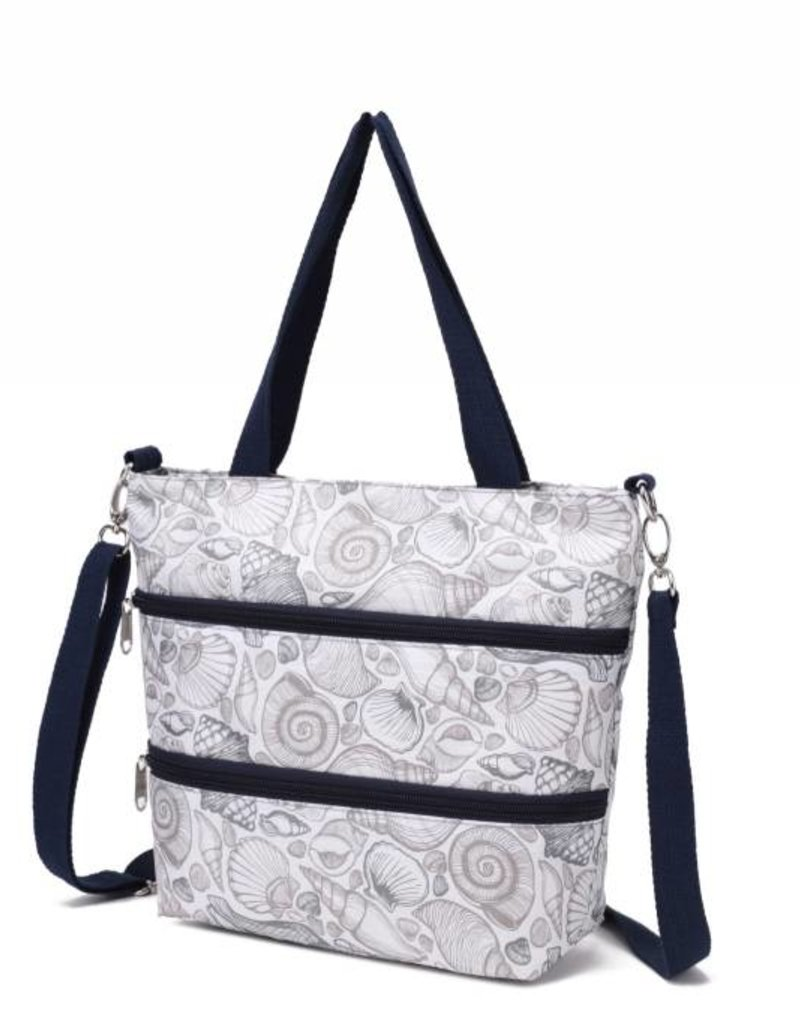 Nylon Amber Crossbody Seashell Grey