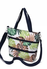 Nylon Amber Crossbody Monstera White