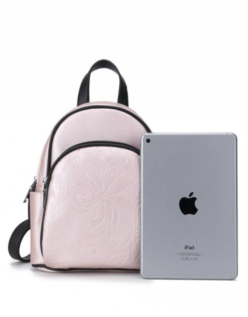 Backpack Lucy Tapa Tiare Embossed Pink