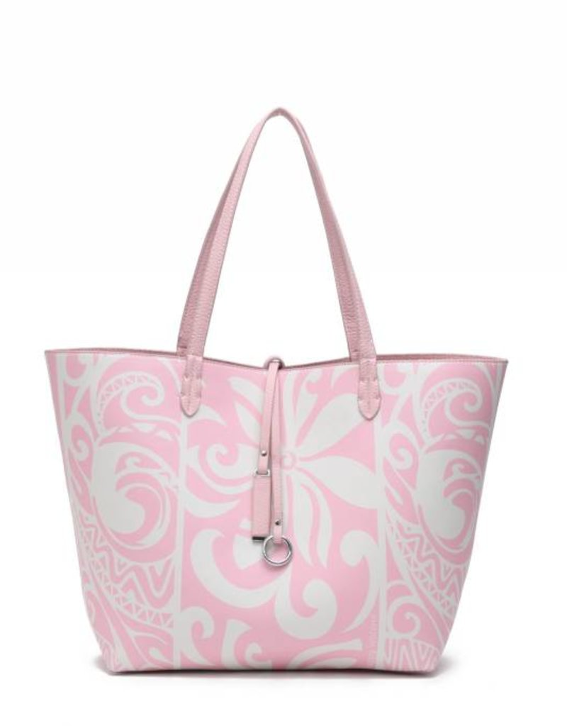Rev Tote Nancy Tapa Tiare Light Pink Large