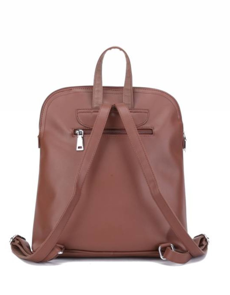 Backpack Sasha Monstera Orchid Brown