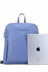 Backpack Sasha Tapa Tiare Blue Embossed Metallic