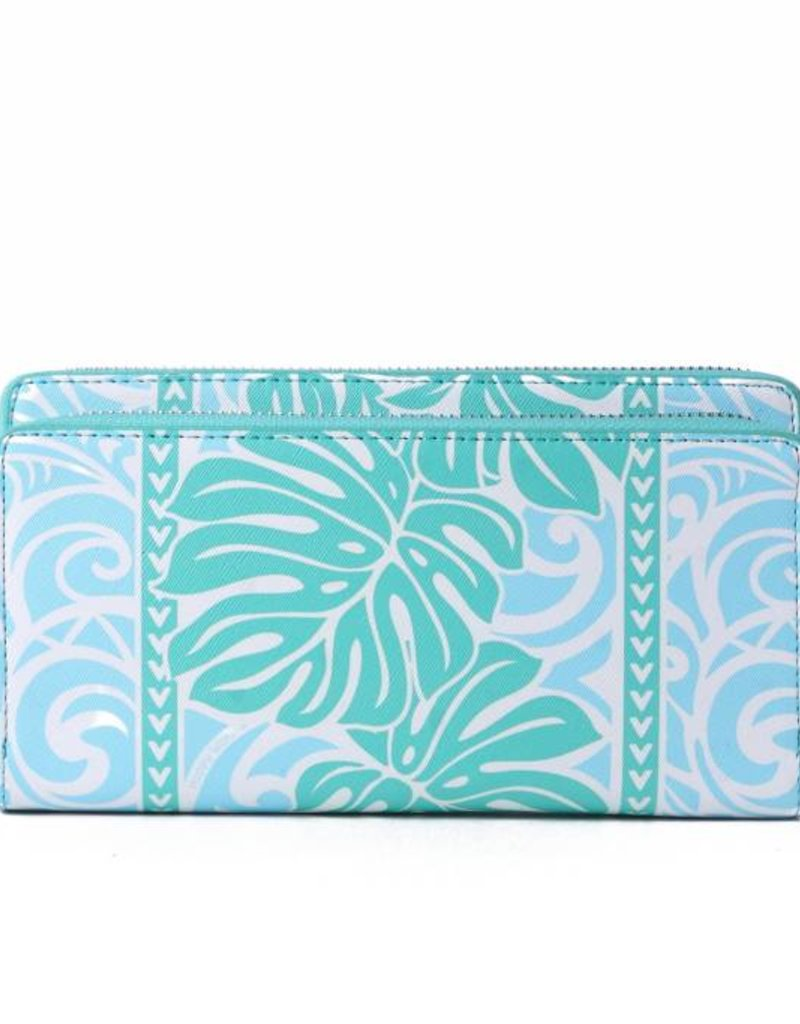Wallet Allison Monstera Blue