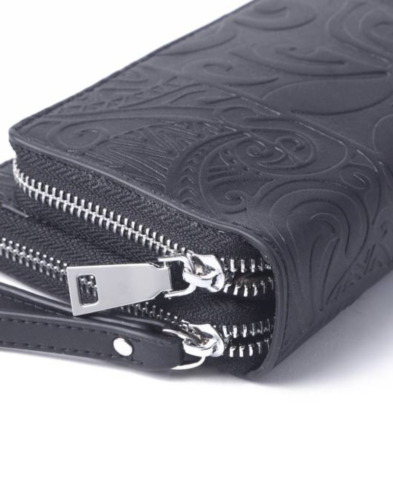 Wallet Allison Tapa Tiare Black Embossed