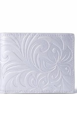 Wallet Alex Hibiscus Silver Embossed
