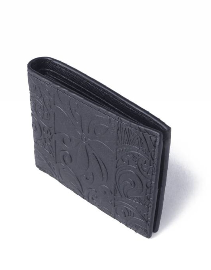 Wallet Alex Tapa Tiare Black Embossed