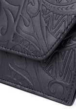 Clutch Victoria Tapa Tiare Black Embossed