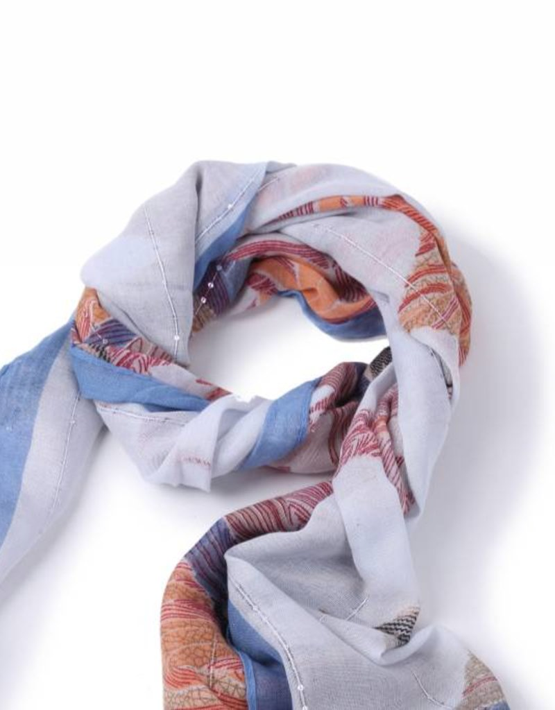 Happy Wahine Scarf Danielle Forest Blue