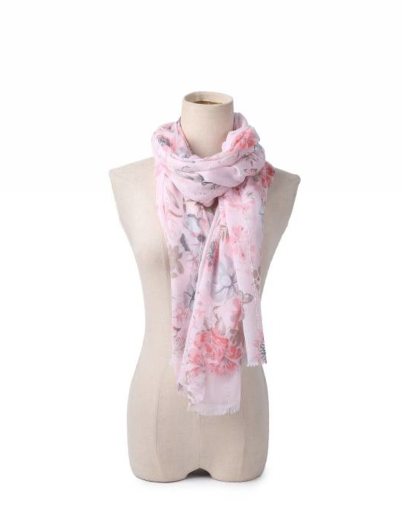 Happy Wahine Scarf Danielle Floral Pink